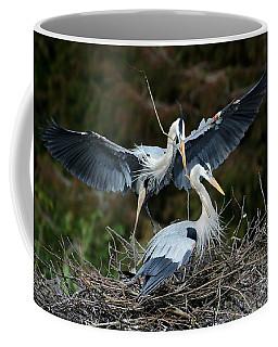Great Blue Herons Nesting Coffee Mug