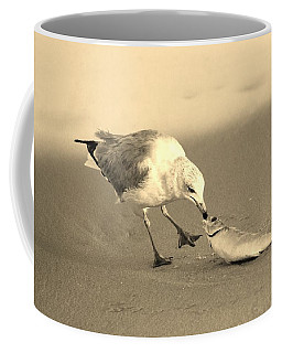 Coffee Mug featuring the photograph Great Catch With Fish by Cynthia Guinn