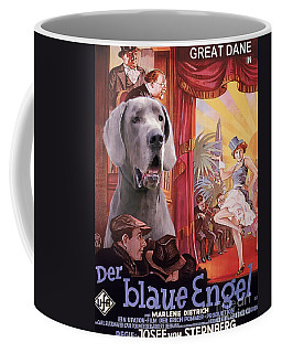 Great Dane Art Canvas Print - Der Blaue Engel Movie Poster Coffee Mug