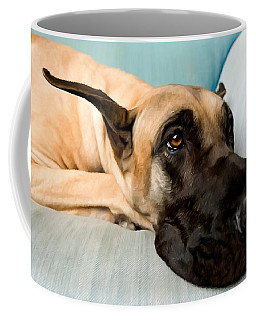 Great Dane Dog On Sofa Coffee Mug