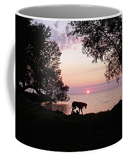 Great Dane Sunset Coffee Mug by Aimee L Maher Photography and Art Visit ALMGallerydotcom