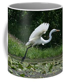 Great Egret Elegance   Coffee Mug
