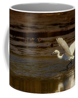 Great Egret Taking Off Coffee Mug