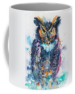 Great Horned Owl Coffee Mug by Kovacs Anna Brigitta