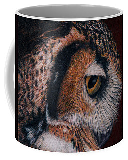 Great Horned Owl Portrait Coffee Mug by Pat Erickson