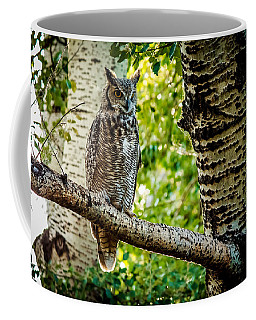 Great Horned Owl Ready To Prowl Coffee Mug