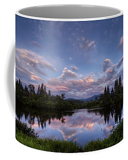 Great North Woods Sunset In New Hampshire Coffee Mug