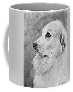 Great Pyrenees In Profile Drawing Coffee Mug
