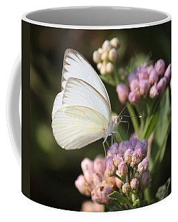 Great Southern White Butterfly On Pink Flowers Coffee Mug