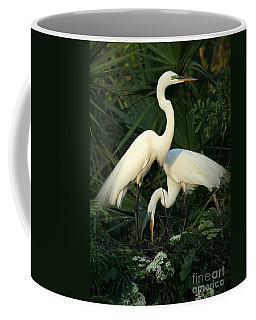 Great White Egret Mates Coffee Mug