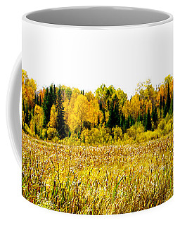 Coffee Mug featuring the photograph Green Amongst The Gold2 by Susan Crossman Buscho