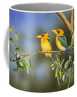 Green And Gold - Yellow-billed Kingfishers Coffee Mug