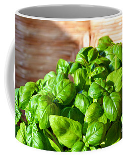 Green Basil Coffee Mug by Ramona Matei