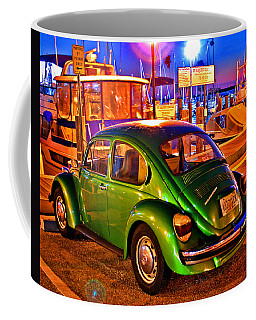 Coffee Mug featuring the photograph Green Beetle by Christopher McKenzie