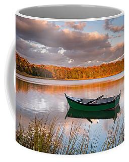 Green Boat On Salt Pond Coffee Mug