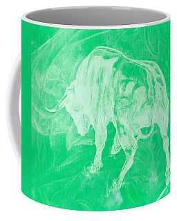 Green Bull Negative Coffee Mug