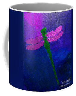 Coffee Mug featuring the painting Green Dragonfly by Anita Lewis