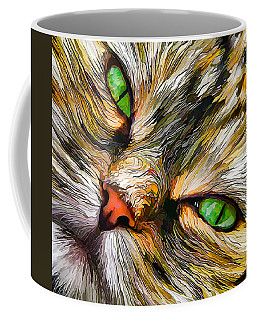 Green-eyed Tortie Coffee Mug