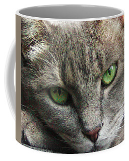 Coffee Mug featuring the photograph Green Eyes by Leigh Anne Meeks