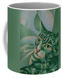 Green Feline Geometry Coffee Mug