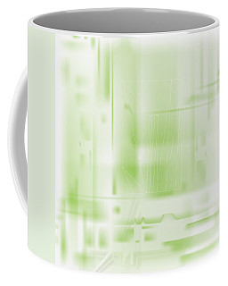 Green Ghost City Coffee Mug