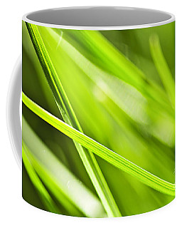 Green Grass Abstract Coffee Mug