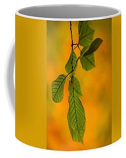 Green Leaves In Autumn Coffee Mug