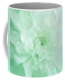 Green Mum Luminous Painted Blossom Coffee Mug