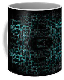 Coffee Mug featuring the digital art Green Network by Anita Lewis