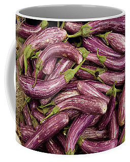 Green Onions, Chinese Eggplant, Red Coffee Mug
