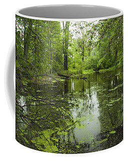 Green Blossoms On Pond Coffee Mug