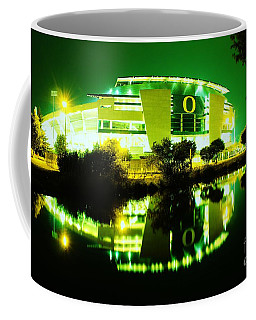 Green Power- Autzen At Night Coffee Mug