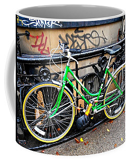 Green Schwinn Bike  Nyc Coffee Mug
