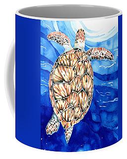 Green Sea Turtle Surfacing Coffee Mug
