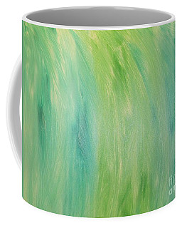 Coffee Mug featuring the painting Green Shades by Barbara Yearty