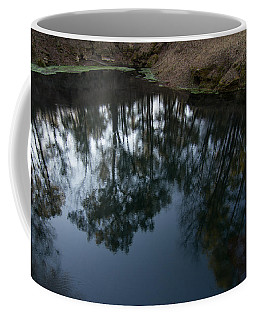 Coffee Mug featuring the photograph Green Sink Reflection by Paul Rebmann