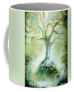 Green Skeleton Meditation Coffee Mug