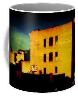 Green Sky Coffee Mug by Miriam Danar