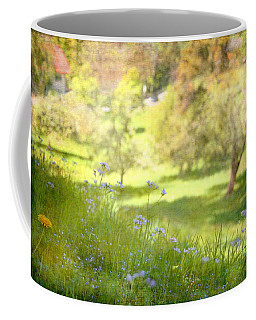 Coffee Mug featuring the photograph Green Spring Meadow With Flowers by Brooke T Ryan
