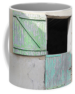 Green Stable Door Coffee Mug by HEVi FineArt