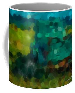 Green Truck In Abstract Coffee Mug