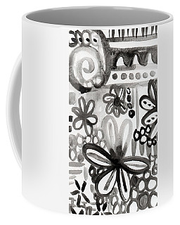 Grey Garden- Abstract Floral Painting Coffee Mug