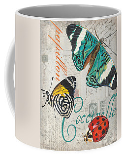 Grey Postcard Butterflies 2 Coffee Mug
