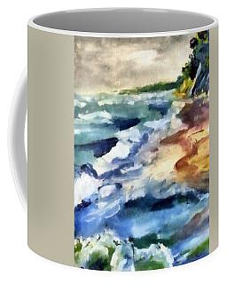 Grey Sky Day On The Lake Coffee Mug