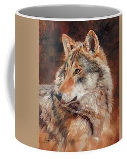 Grey Wolf Portrait Coffee Mug