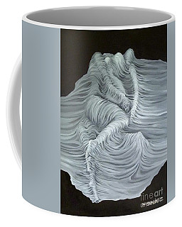 Coffee Mug featuring the painting Greyish Revelation by Fei A