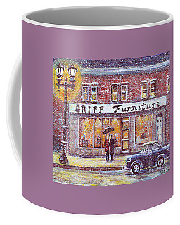 Coffee Mug featuring the painting Griff Valentines' Birthday by Rita Brown