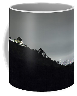 Griffith Park Observatory And Los Angeles Skyline At Night Coffee Mug
