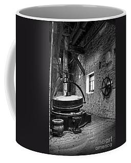 Grinder For Unmalted Barley In An Old Distillery Coffee Mug