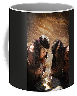 Grinding Corn Coffee Mug